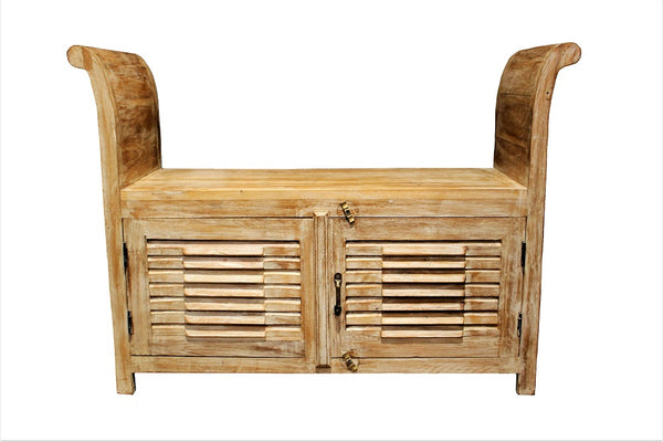 Wooden Bench Seat - HomeStreetHome.ie