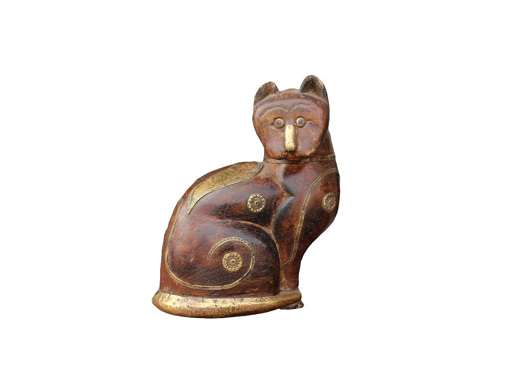 Wood & Brass Cat
