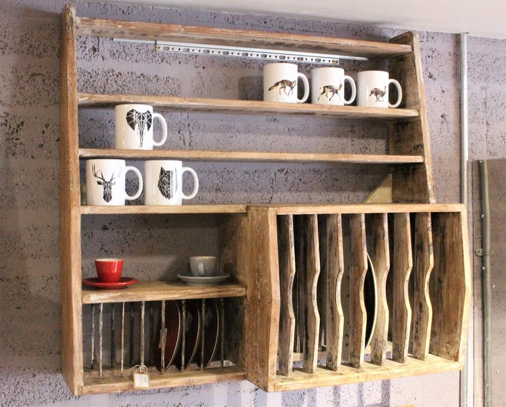 Wood Kitchen Rack - HomeStreetHome.ie