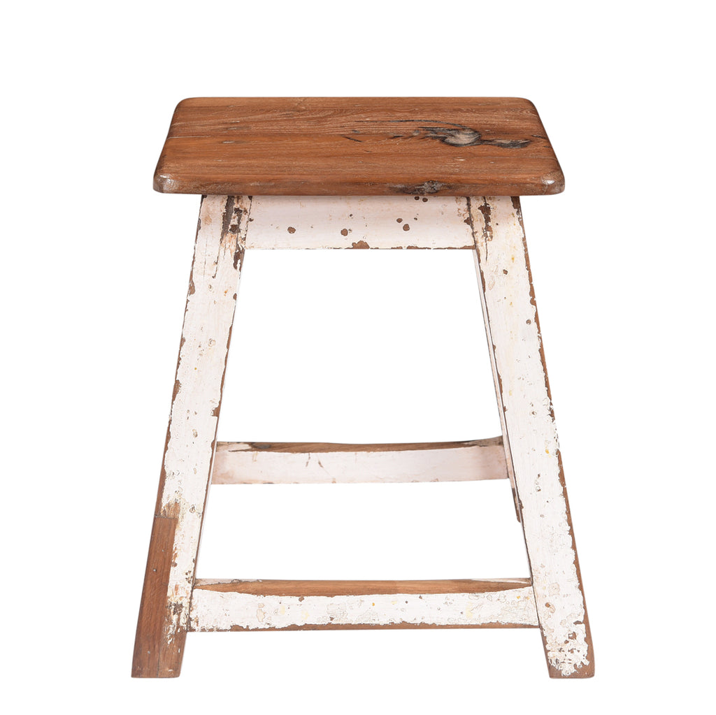 Workshop White Small Stool