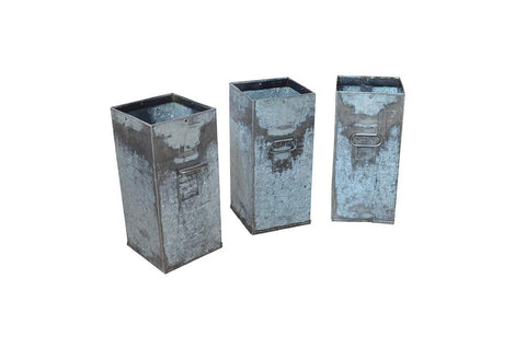 Recycled Zinc Container with handles
