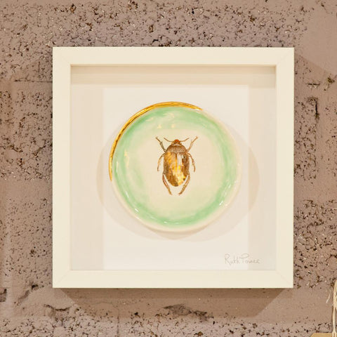 Gold Insect Ceramic Wall Decoration - HomeStreetHome.ie