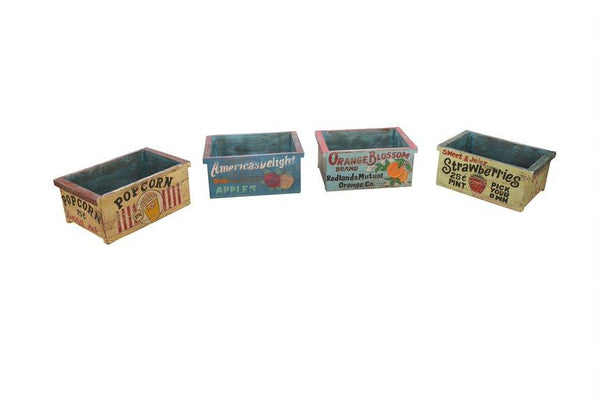 Handpainted Wood Crate - HomeStreetHome.ie