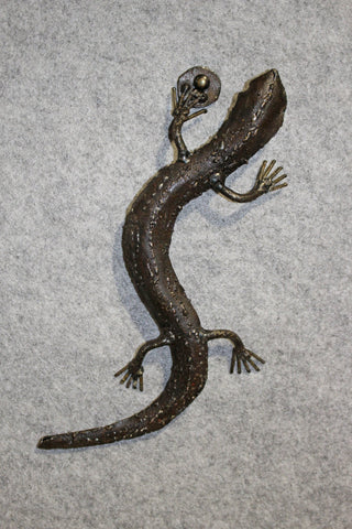 Lezard Metal Recycled Wall Hanging Decoration - HomeStreetHome.ie