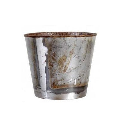 Recycled Metal Pot - HomeStreetHome.ie