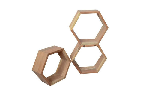 The Polygon Modular Honeycomb Wall Shelf - HomeStreetHome.ie