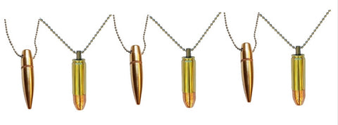 50 bmg necklace bullet pendant necklace