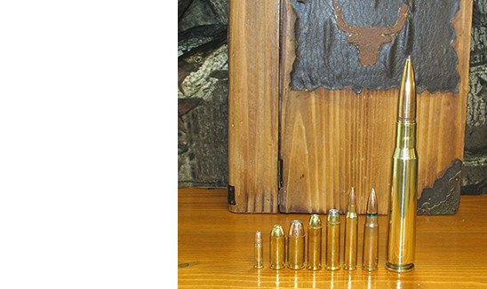 .50 cal Dummy Bullet Desk Ornament - Brass Honcho