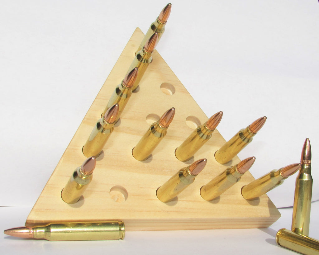 Triangle Peg Board Game with Bullets