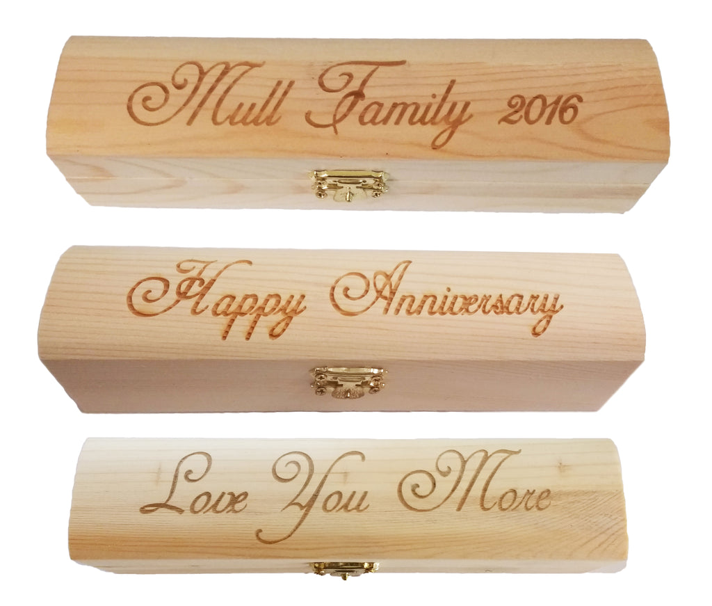 Personalized Engraved Gift Box (Box only) Great gift for him
