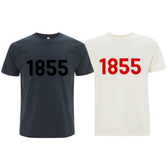 Mens organic cotton T-shirt | 1855 logo