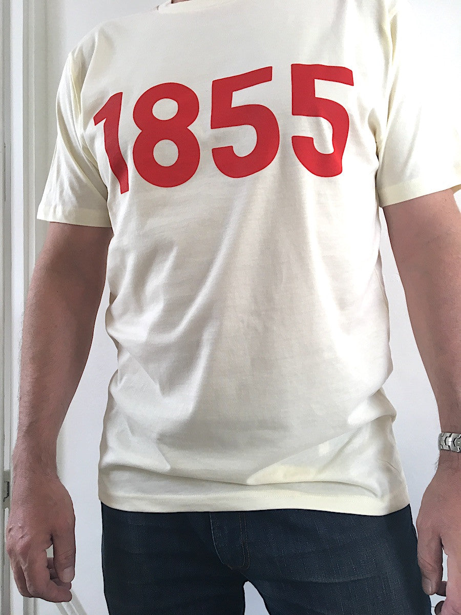 mens organic cotton tshirt | 1855 print