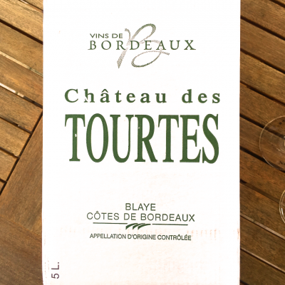White Wine In Box | BIB 5L | Chateau Des Tourtes