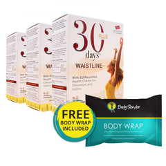 30 Days Waistline - 3 Month Pack With Free Body Wrap