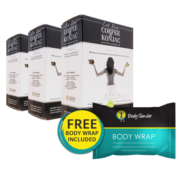 Coffee & Konjac - 3 Month Pack With Free Body Wrap