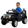 12V Black Jeep ride on electric car