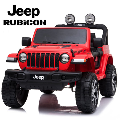 *NEW* 12V Jeep Rubicon kids electric ride on car - red