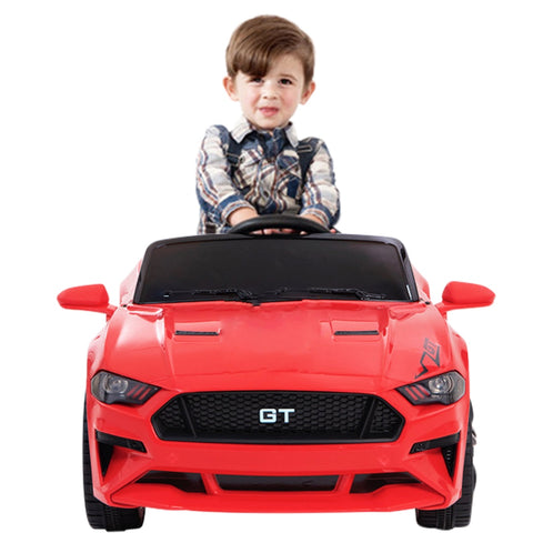12V Mustang replica kids muscle ride electric on car, with remote control RED