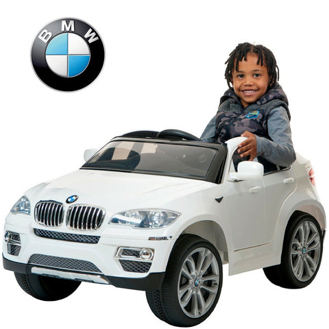 12V BMW X6 White ride on electric car with remote control