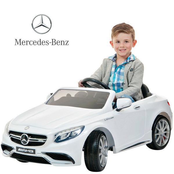 DEMO Electric car for kids 12V Mercedes AMG kids ride on car -Ice white