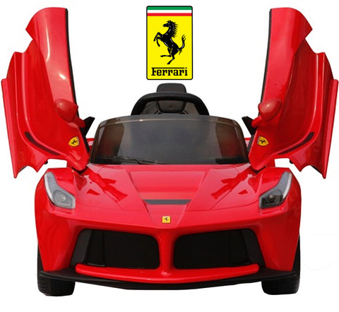 12V Ferrari kids ride on car