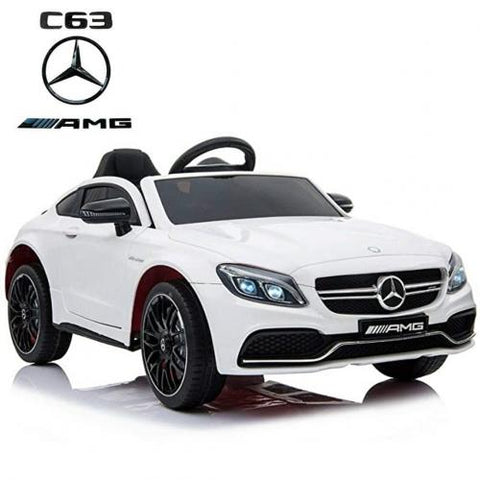 Mercedes C63 Kids ride on car-White
