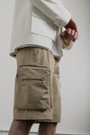 Utility Short | Tan Cotton Nylon