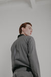 Vent Bomber | Graph Grey Work Wool