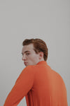 Knit Shirt | Safety Orange Merino