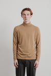 Base Roll Neck | Dark Khaki Merino