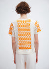 Jacquard Knitwear Orange | Mixed Merino Jacquard