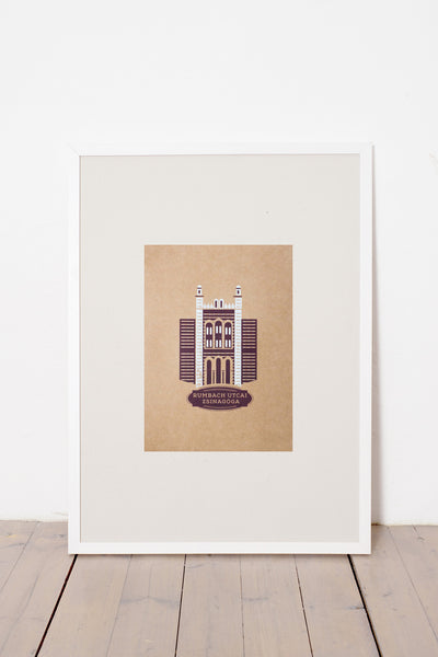 RUMBACH STREET SYNAGOGUE PRINT - BROWN