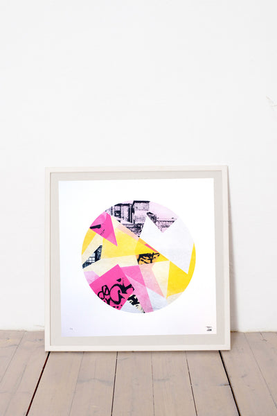 KALYKE LIMITED EDITION NUMBERED AND SIGNED GRAPHICS PRINTA HAND-MADE WATER-BASED SILKSCREEN PRINT ON RECYCLED PAPER
