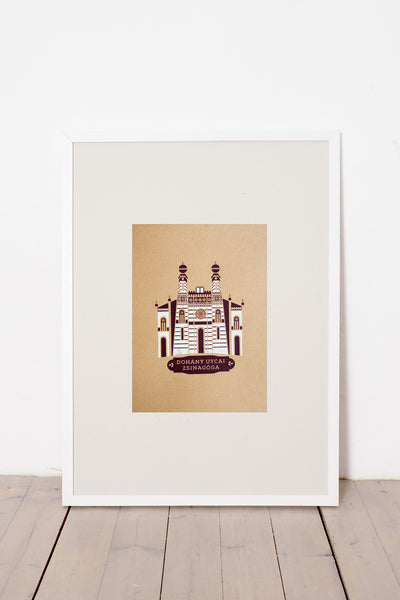 DOHÁNY STREET SYNAGOGUE PRINT - BROWN