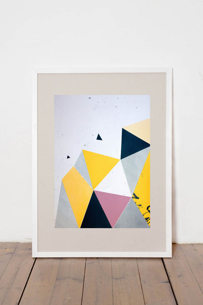 OUR LITTLE SECRET II. LIMITED EDITION NUMBERED AND SIGNED GRAPHICS PRINTA HAND-MADE WATER-BASED SILKSCREEN PRINT ON RECYCLED PAPER