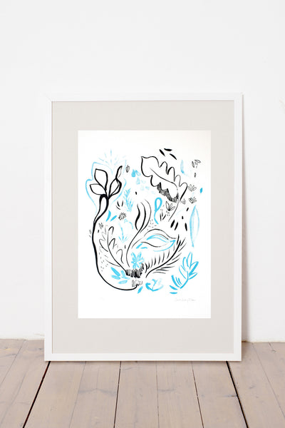 BLUE MEADOW PRINT