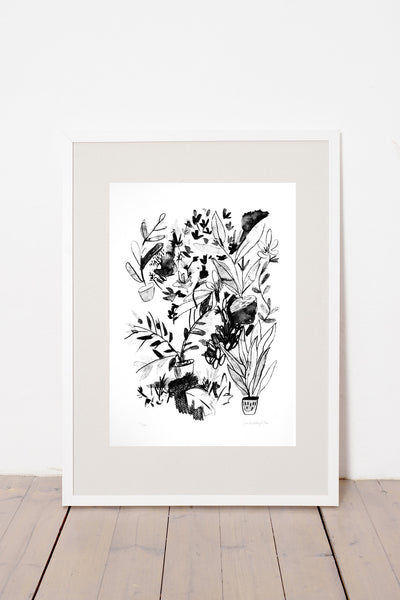 FLOWERS IN THE ROOM PRINT
