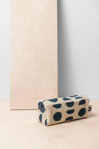 Blue Dots Cosmetic Bag - Small