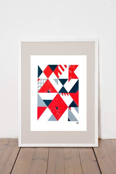 ALGEBRA I. PRINT LIMITED EDITION NUMBERED AND SIGNED GRAPHICS PRINTA HAND-MADE WATER-BASED SILKSCREEN PRINT ON RECYCLED PAPER