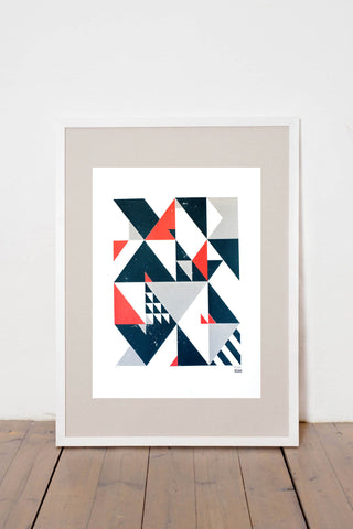 ALGEBRA II. LIMITED EDITION NUMBERED AND SIGNED GRAPHICS PRINTA HAND-MADE WATER-BASED SILKSCREEN PRINT ON RECYCLED PAPER