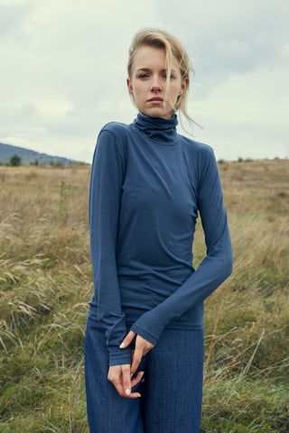 Grey/Blue Turtleneck