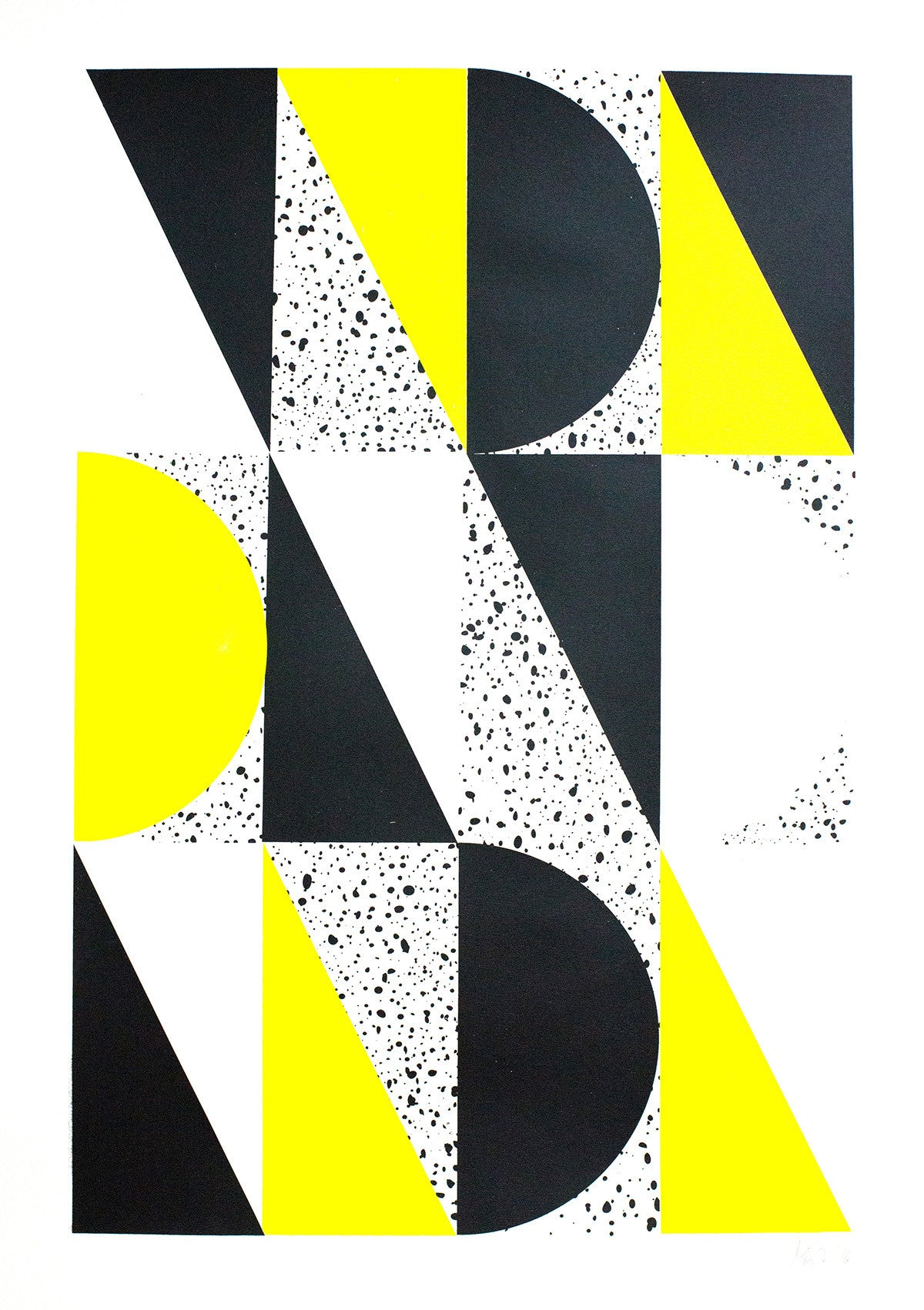 BLACK AND YELLOW PRINT - BIG