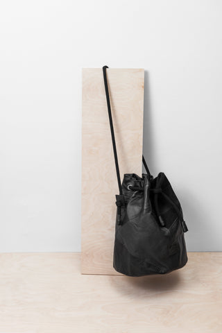 Black Patchwork Bucket Bag