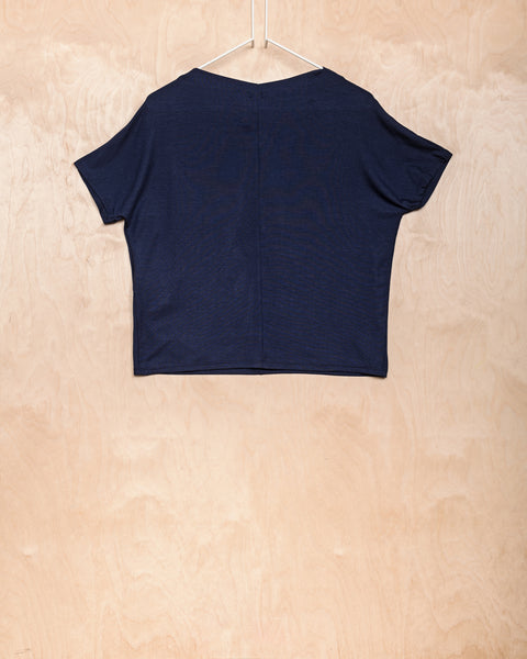 Navy Tencel Top