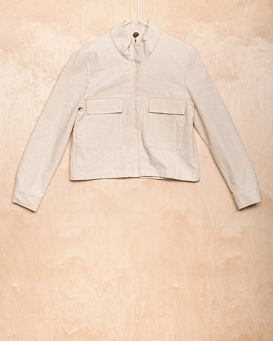 Natural Cotton Jacket With Pockets