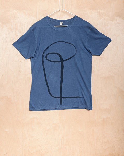 Blue T-Shirt With Initial Pattern