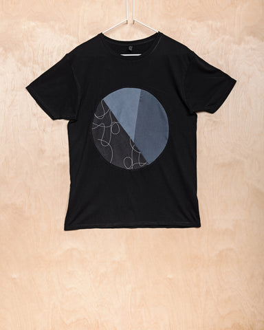 Black Circle Inlay T-Shirt