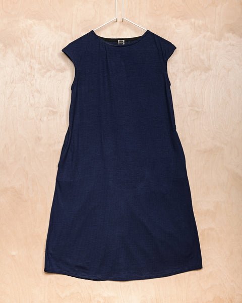 Navy Patchwork Dress