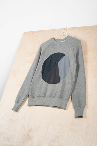 Gray Circle Inlay Sweatshirt