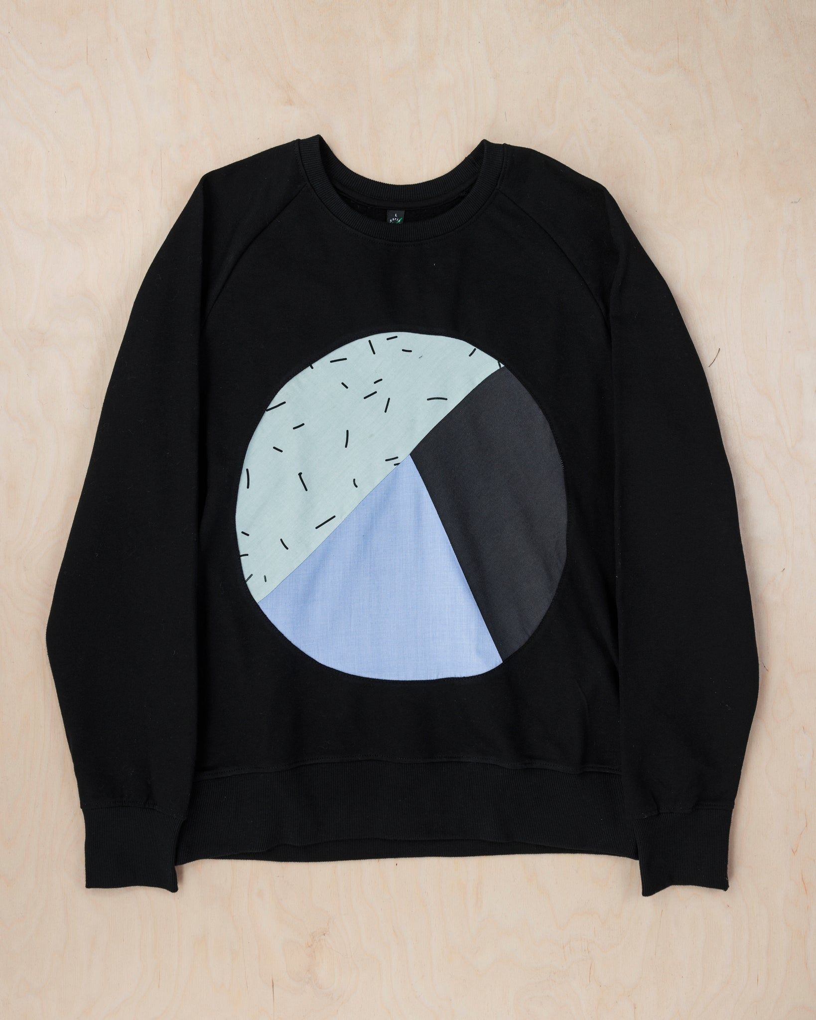 Black Circle Inlay Sweatshirt